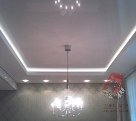 Двухуровневые натяжные потолки в Санкт-Петербурге, цена, фото, монтаж под ключ