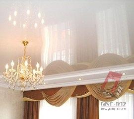 Глянцевые натяжные потолки в Санкт-Петербурге, цена, фото, монтаж под ключ