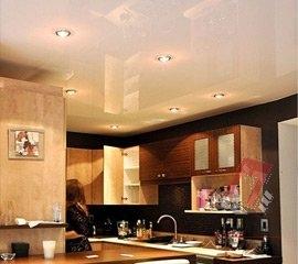 Натяжные потолки на кухню в Санкт-Петербурге, цена, фото, монтаж под ключ