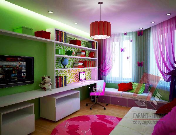Матовый натяжной потолок в детскую комнату
