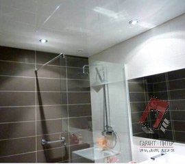 Натяжные потолки в ванну в Санкт-Петербурге, цена, фото, монтаж под ключ