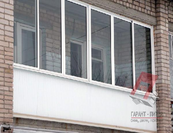 Раздвижное остекление балкона Provedal